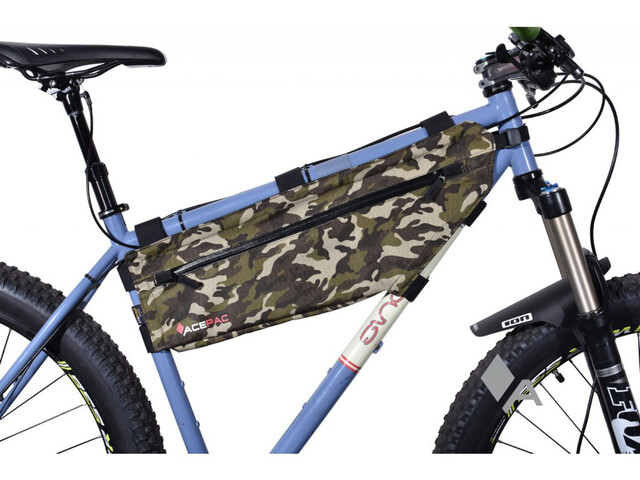 Acepac Zip Frame Bag Bike Pannier M brown/olive at Bikester.co.uk